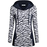 Helloacc Women Hoody Shirts, Long Sleeves Tunic Tops with Pockets Fall Winter L