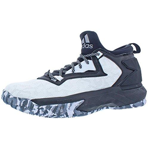 size 40 eada3 62989 Galleon - Adidas D Lillard 2 Mens Basketball Shoe 8.5 White-