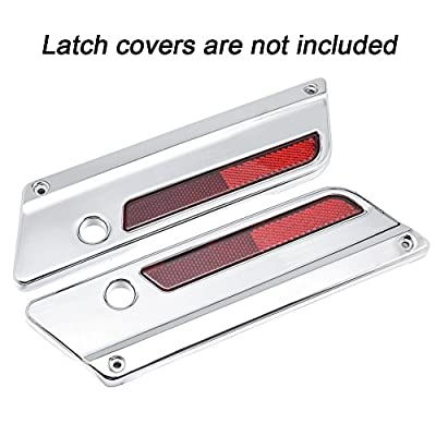 Amazicha Red Reflectors for Harley Latch Covers Saddlebags Side Visibility 1993-2013 (Red): Automotive