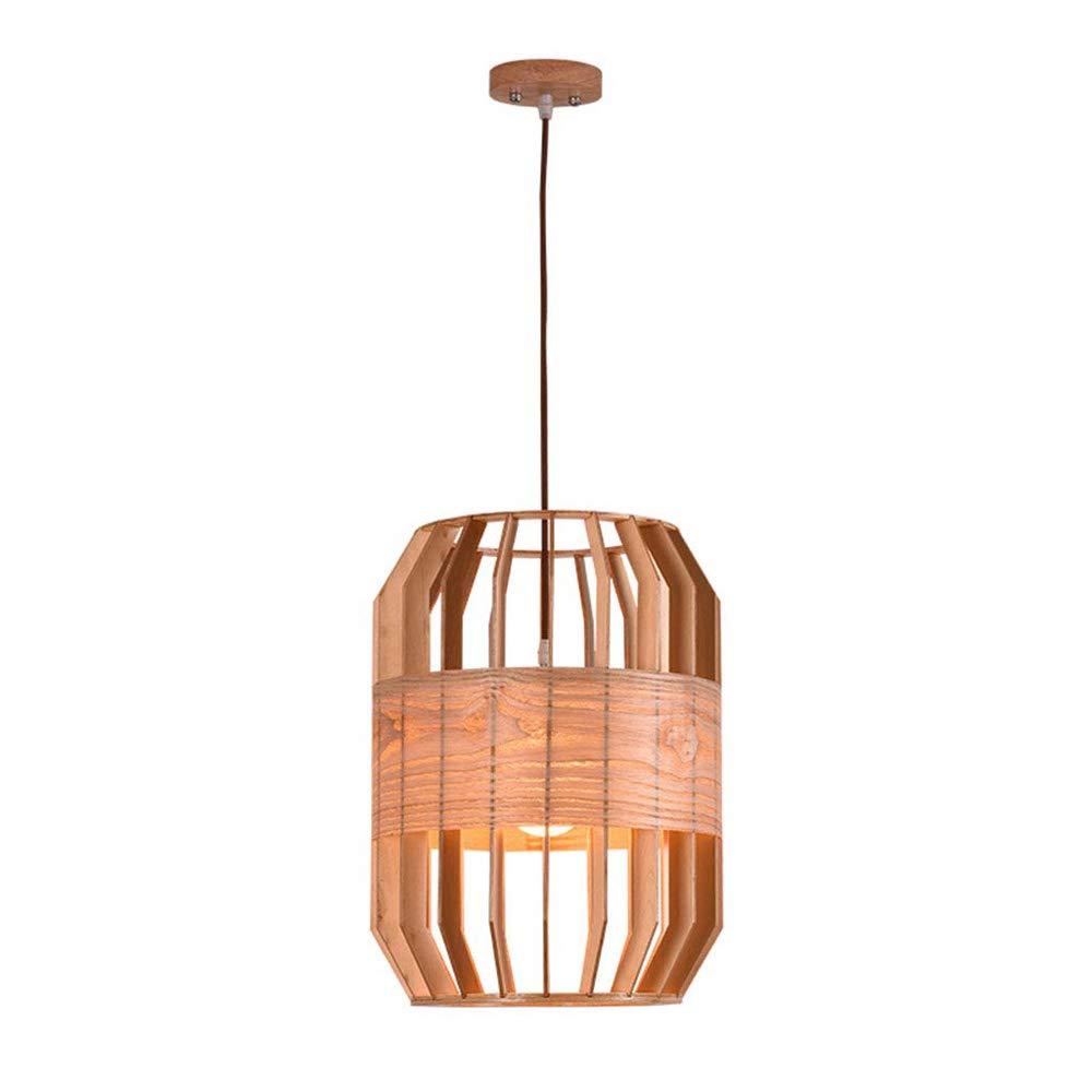 工業用レトロシャンデリア、木製の鳥かごランプシェード装飾照明用レストランカフェリビングルームの寝室バー B07TDR6THZ