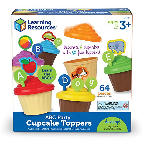 51NZ3Vh3IGL - Learning Resources ABC Cupcake Party Toppers, Early Alphabet Learning, Vocabulary Toy, Ages 3+