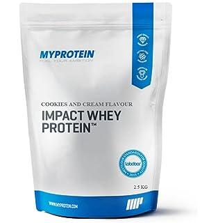 MyProtein Impact Whey Proteína de Suero, Sabor Cookies y Cream - 2500 gr