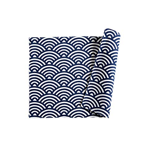 (1 Pcs Cotton Linen Blue Totem Placemat Insulation Dining Disc Tableware Pads Rectangular Western Table Mat Coaster (Color : C))