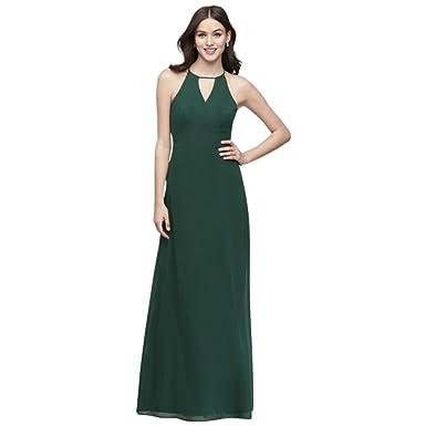 f0d374486f7c David's Bridal Chiffon Keyhole Bridesmaid Dress with Cutaway Back Style  W60000 at Amazon Women's Clothing store: