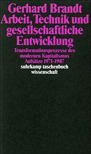 Arbeit, Technik und gesellschaftliche Entwicklung: Transformationsprozesse des modernen Kapitalismus. Aufsätze 1971–1987 (suhrkamp taschenbuch wissenschaft)