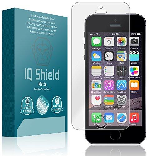 iPhone 5SE Screen Protector, IQ Shield Matte Full Coverage Anti-Glare Screen Protector for iPhone 5SE (iPhone 5S,5 SE) Bubble-Free Film - with