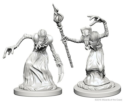 WizKids Dungeons & Dragons: Nolzurs Marvelous Unpainted Minis: Mindflayers