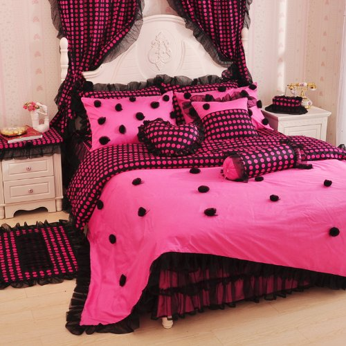 Pink And Black Bedding Sets Ease Bedding With Style