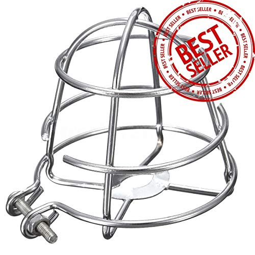 ((10 Pack) GREATEST Fire Sprinkler Head Guard Chrome Plated Easy Screw Cover Guard For 1/2'' IPS)