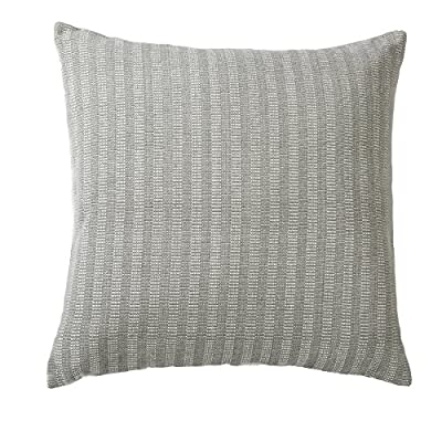 Indoor/Outdoor Decorative Pillow 18x18. Solid Color on One Side, Dotted on the Other. Jacquard Pattern. Rina Collection By Great Bay Home. (Grey Morning) -  - living-room-soft-furnishings, living-room, decorative-pillows - 51NZ4ZHfHkL. SS400  -