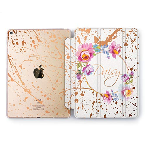 Wonder Wild Paints Splash Apple iPad Pro Case 9.7 11 inch Mini 1 2 3 4 Air 2 10.5 12.9 2018 2017 Design 5th 6th Gen Clear Smart Hard Cover Personalized Simplicity Painter Rose Flowers Woman Name Art ()