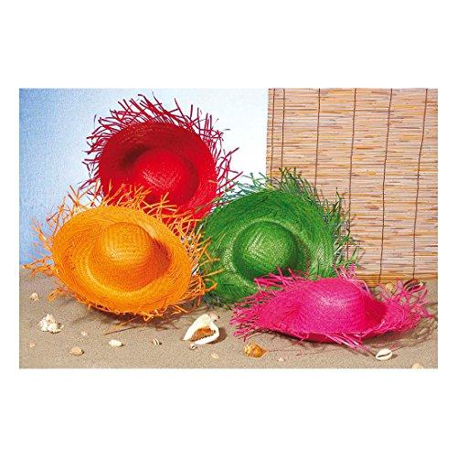 Chapeau de paille coloré Ipanema sombrero paille chapeau chapeau de fête chapeau de plage chapeau de soleil chapeau d'été