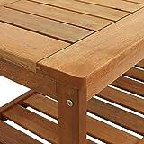 Sunnydaze Meranti Wood Outdoor Coffee Table with