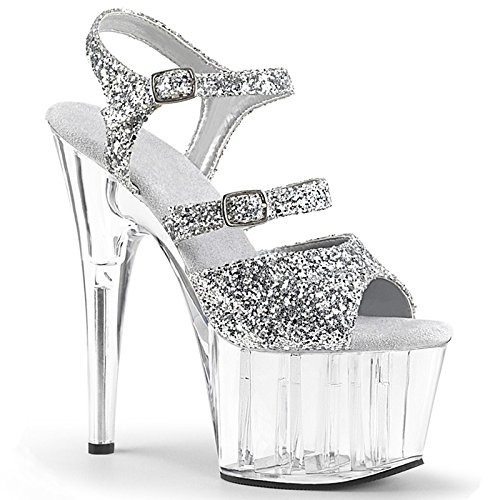 YMFIE Tempérament d'été dame européenne fine sandales très confortables avec des paillettes de la mode chaussures haut.37 EU,Golden