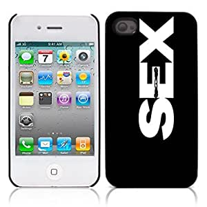 Sex Hard Plastic and Aluminum Back Case for Apple iphone 4 4S