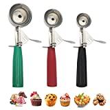 Cookie Scoop Set, Ice Cream Scoop with Trigger, Multiple Size Large-Medium-Small Size Professional