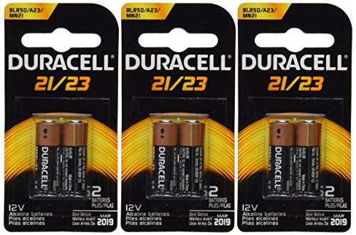 (Duracell 6 (3x2) Duralock MN21B2PK Watch/Electronic/Keyless Entry Batteries, 12V Alkaline)