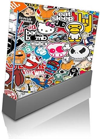 Popular Sticker Bomb Wii Console Vinyl Decal Sticker Skin by PersonalizedPrinting4u