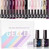Best Gel Polish Kits - Gellen Gel Nail Polish Kit 16 Colors With Review