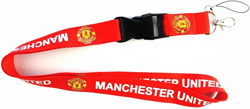 Manchester United FC Lanyard Keychain Holder with Snap Buckle