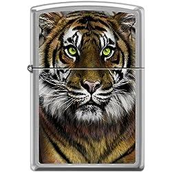 Golden Bengal Tiger Green Eyes Big Cat Zippo Lighter