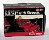 NCAA Maryland Terrapins Comfy Throw Blanket with Sleeves, Stripes Design