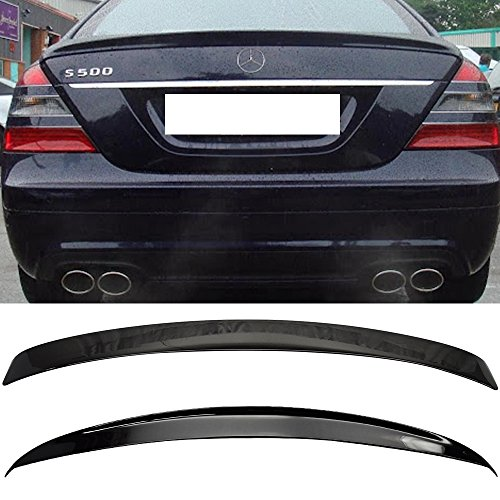 (2007-2013 W221 4Dr AMG Trunk + L Type Roof Spoiler OEM Painted # 040 Black Amazon# )