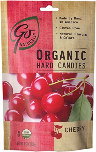 Go Naturally Organic Cherry Hard Candies, 3.5 oz (Pack of 6)]()
