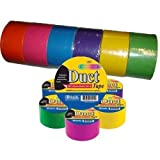Bazic 1.88 X 10 Yard Fluorescent Colored Duct Tape, Assorted Colors, Pack of 6 Size: Fluorescent Colored Model: (Hardware & Tools Store)