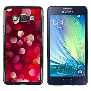 Planetar® ( Bling del brillo de los puntos de luz roja púrpura rosada ) Samsung Galaxy A3 Fundas Cover Cubre Hard Case Cover