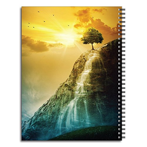 Facing Giants Personalized Religious Spiral Notebook/Journal, 120 College Ruled or Checklist Pages, durable laminated cover, and wire-o spiral. 8.5x11 | 5.5x8.5 | Made in the USA Photo #2