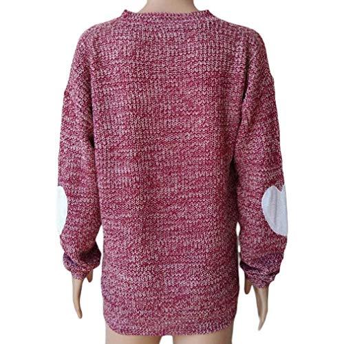 con con Lunga Dimensione Dimensione per FuweiEncore Manica Maglia a Cappuccio Donna Felpa UK Rosso S Rosso Colore a M pq5x75zt