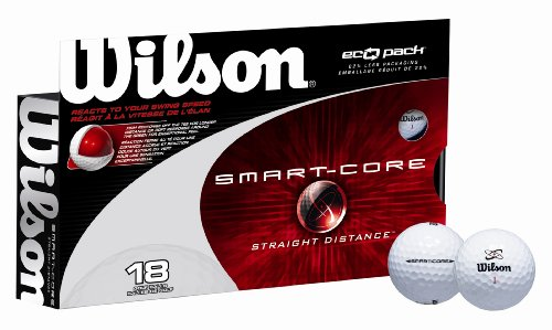 Wilson Smart-Core Straight 18 Ball pack, White, Outdoor Stuffs