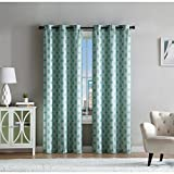 VCNY Home Eli Jacquard Panel Pair Seafoam Green 76 x 96 96 Inches