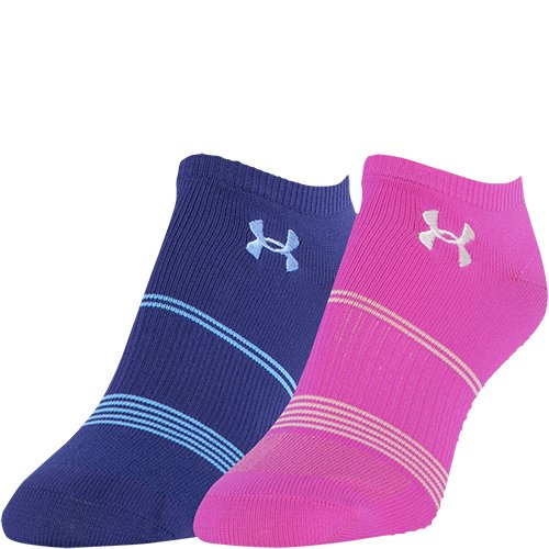 Under Armour Women's Grippy III No Show Socks, Europa Purple/Assorted, Medium by Under Armour