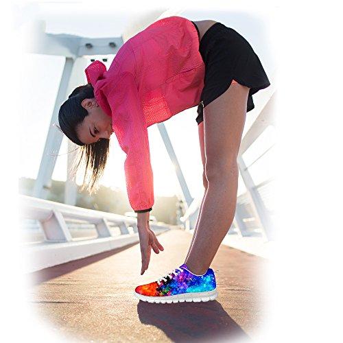 Bigcardesigns Mens Donna Moda Galassia Spazio Scarpe Da Corsa Sneakers Stringate Cool Galassia