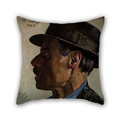 (Bestseason 20 X 20 Inches / 50 By 50 Cm Oil Painting Frederik Lange - Self-portrait Pillow Cases,two Sides Is Fit For Floor,couch,adults,lover,bar Seat,gril Friend)