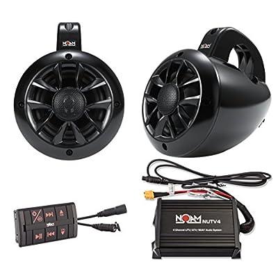 NOAM NUTV4 - Marine Bluetooth ATV/Golf Cart/UTV Speakers Stereo System: Automotive