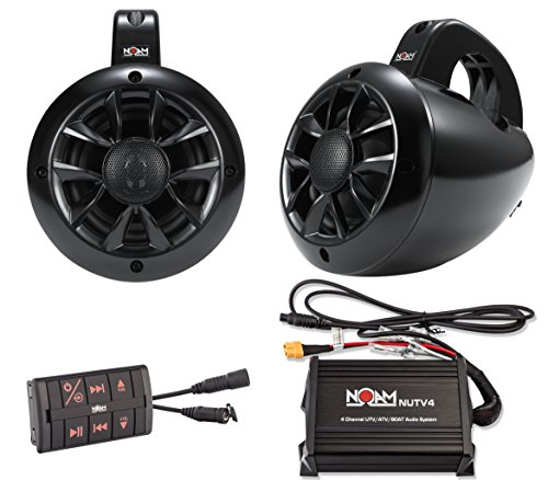 NOAM NUTV4 - Marine Bluetooth ATV / Golf Cart / UTV Speakers Stereo System (Outdoor Tower Speaker)