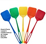 Smart Swatter Fly Swatters | Assorted Color 2 Pack