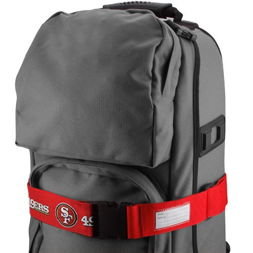 UPC 763264175500, NFL San Francisco 49ers Scarlet Adjustable Luggage Strap