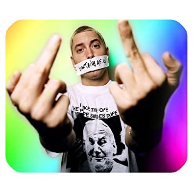 Eminem Customized Standard Rectangle Mouse Pad Mouse Mat (Black)