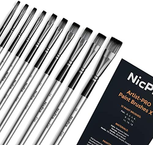 Nicpro Painting Brushes Acrylic Watercolor product image