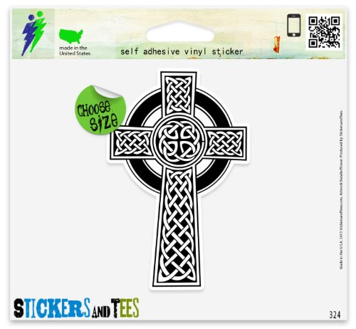 Celtic Cross Irish Vinyl Car Bumper Window Sticker 3