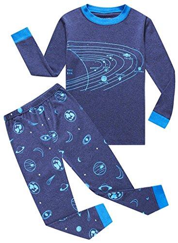 dddf3a5e1889 Galleon - Space Big Boys Long Sleeve Pajamas 100% Cotton Clothes Size 10