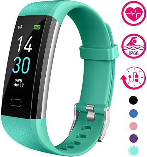 Vabogu Fitness Tracker HR, with blood pressure heart rate monitor, pedometer, sleep monitor, calorie counter, vibration alarm, clock IP68 waterproof for women Men