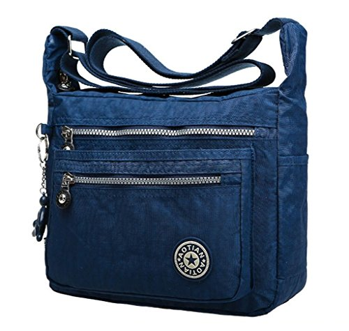 Melord Medium Rain-proof Shoulder Bag Multilayer Casual Cross body Bag Women`s Travel Handbag