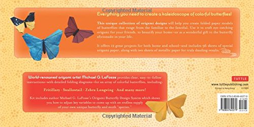 d1165098c6 Amazon.com: Origami Butterflies Kit: Kit Includes 2 Origami Books, 12 Fun  Projects, 98 Origami Papers and Instructional DVD: Great for Both Kids and  Adults ...