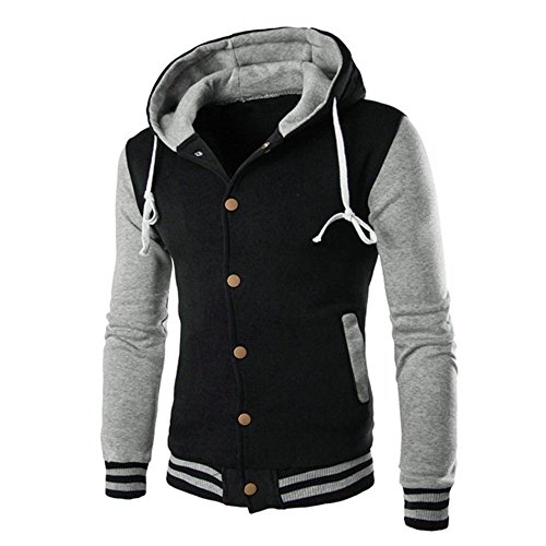 (Cotton Coats for Men,Realdo Men's Warm Outwear Jacket Autumn Winter Slim Sweatshirt)