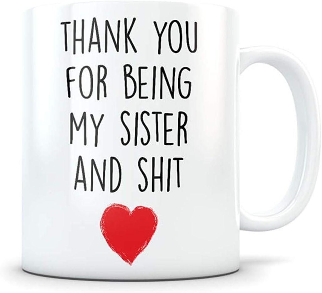 Regalo de agradecimiento para hermana, regalo de agradecimiento para hermana, regalo para hermana, agradecimiento hermano, taza de café para hermana.